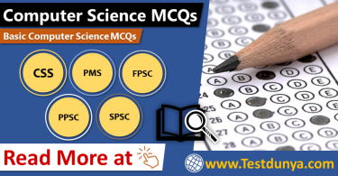 Computer Science MCQs for PPSC, FPSC, NTS, OTS, PTS with PDF. Computer MCQ for NTS, CSS, FIA. Basic Computer MCQs for UPSC, BPSC and other Competitive Exams.