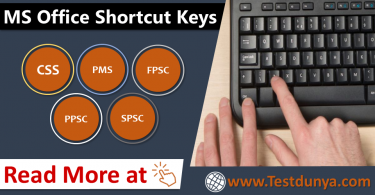 MS Office Shortcut Keys PDF for PPSC, FPSC, NTS, OTS. Microsoft Office Shortcut Keys for PPSC, FPSC, NTS and other competitive exams download PDF Free.