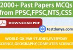 All type of Jobs Test Preparation and Past Papers of PPSC