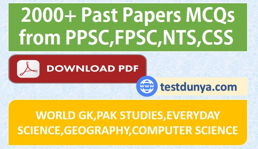 Past Paper collection PDF Book 2000+ MCQs data | TestDunya