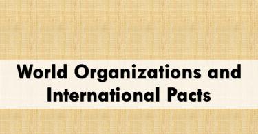 World organizations and international pacts, international organizations.www.testdunya.com