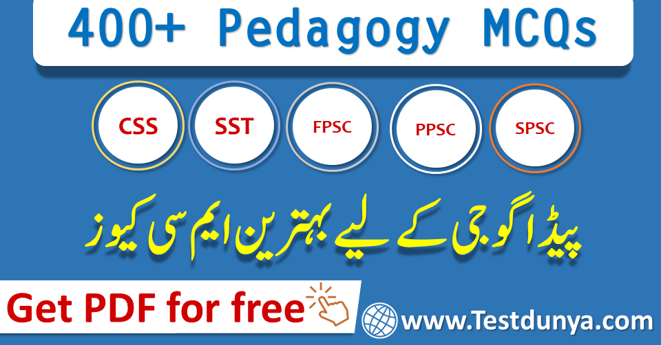 Pedagogy MCQs PDF Download for SST, FPSC, NTS with Answers