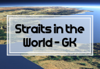 Straits in the world - General knowledge MCQs.Geography, Straits MCQS with solution. MCQS about water bodies for test preparation.
