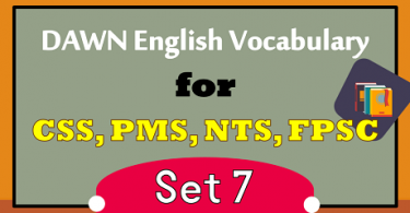 DAWN NEWS VOCABULARY WITH URDU MEANINGS PDF