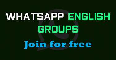 WhatsApp English Group links Join for Free