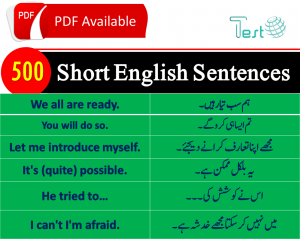 English translation in Urdu with pictures set 12 | %