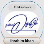 Ibrahim name signature
