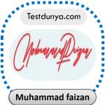 Muhammad faizan name signature