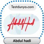 Abdul Hadi name signature