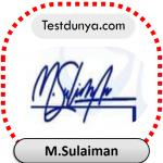M.Sulaiman name signature