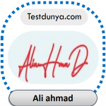 Ali Ahmad name signature