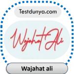 Wajahat ali name signature