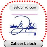 Zaheer baloch name signature