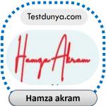 Hamza akram name signature