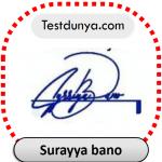 Surayya bano name signature
