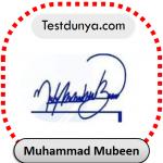 Muhammad Mubeen name signature
