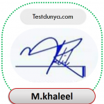 Muhammad Khaleel Name Signature