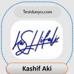 Kashif name signature