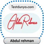 Addul Rehman name signature