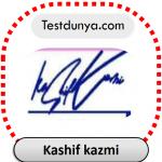 Kashif kazmi name signature