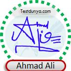 Ahmad Ali Signature