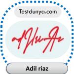 Adil riaz name signature