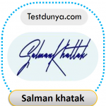 Salman Khatak signature