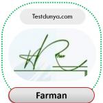 Farman name signature