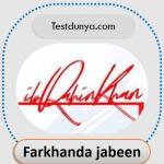 Farkhanda name signature