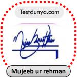 Mujeeb ur rehman name signature