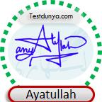 Ayatullah Name Signature