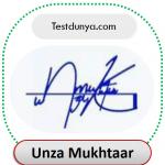 Unza name signature
