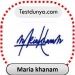 Maria khanam name signature