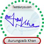 Aurungzaib Khan Signature