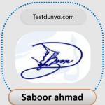 Saboor name signature