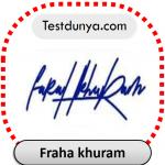 Fraha khuram name signature