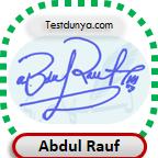 Abdul Rauf Signature