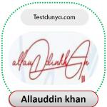 Allauddin name signature