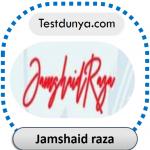 Jamshaid raza name signature