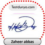 Zaheer abbas name signature