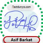Asif Barkat Signature