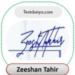 Zeeshan name signature