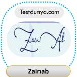 Zainab signature