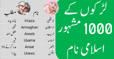 1000 Islamic Baby Boy Names in Urdu with Meanings