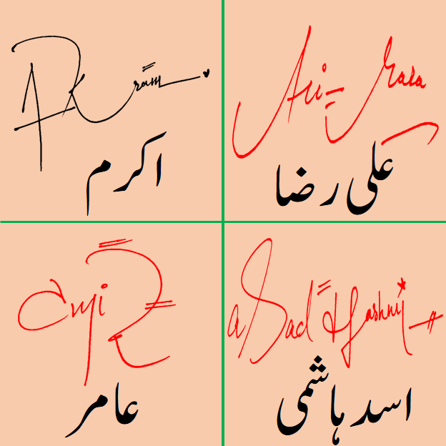 Handwritten Signature Styles for my name