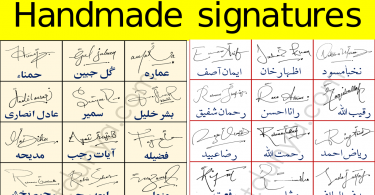Free Handmade Signatures Styles for Your Name